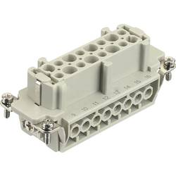 Súprava konektorovej zásuvky Harting Han® E 09 33 016 2701, 16 + PE, skrutkovací, 1 ks
