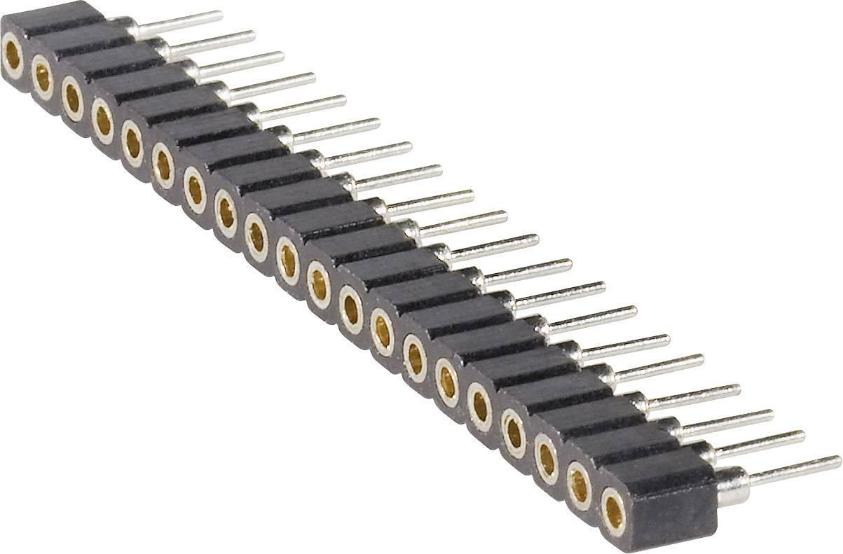 Zásuvková lišta (precízna) BKL Electronic 10120700, řádky 1, kontakty na řádek 20, 1 ks