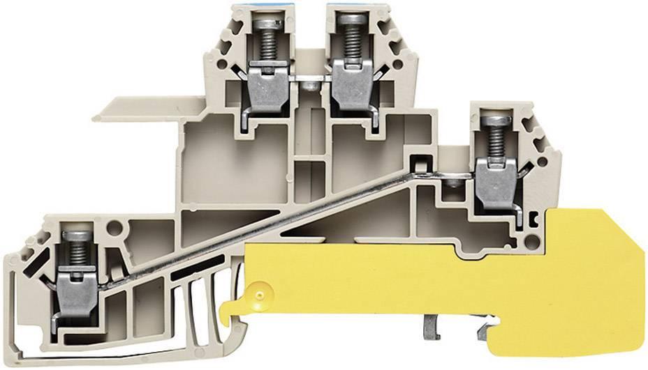 Řad. svorka do rozváděče Weidmüller WDL 2.5/S/N/L/PE (1030700000), šedá/modrá/zel.žlut.