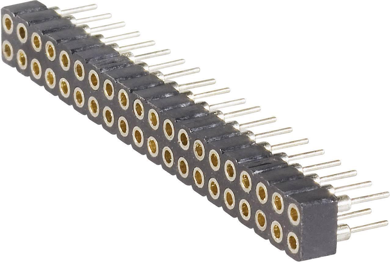 Zásuvková lišta (precízna) BKL Electronic 10120702, řádky 2, kontakty na řádek 20, 1 ks