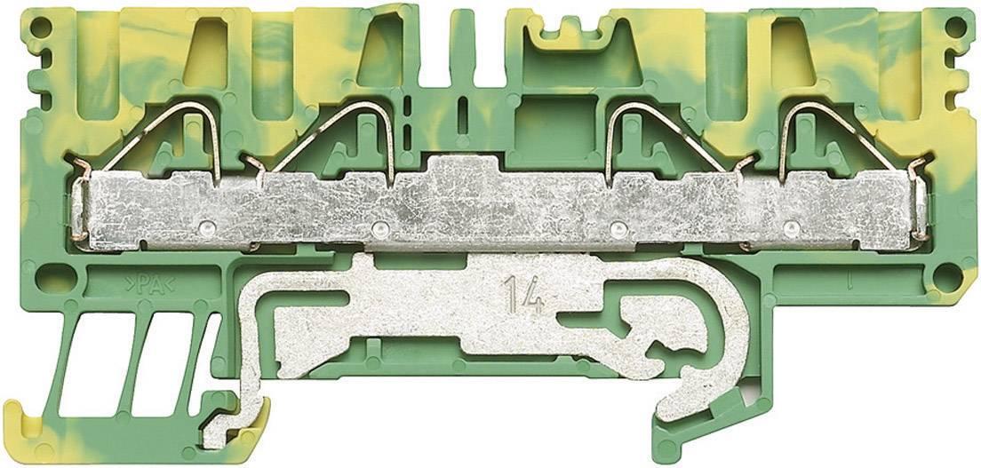 Svorka řadová s ochr. vodičem Weidmüller PPE 2.5/4/4AN (1896160000), 5,1 mm, zelenožlutá