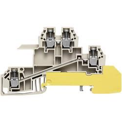 Řad. svorka do rozváděče Weidmüller WDL 2.5/S/L/L/PE (1031100000), šedá/zel.žlut.