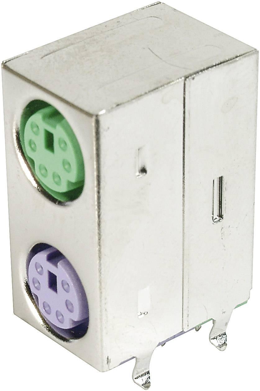 Mini DIN 2 portová zdířka, stíněná TRU COMPONENTS TC-A-DIO-DP/06 GV-203, 1 ks