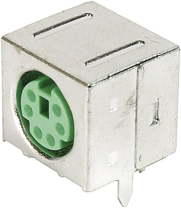 Mini-DIN súprava konektorovej zásuvky TRU COMPONENTS TC-A-DIO-FS06/GREEN-203 1586424, 1 ks