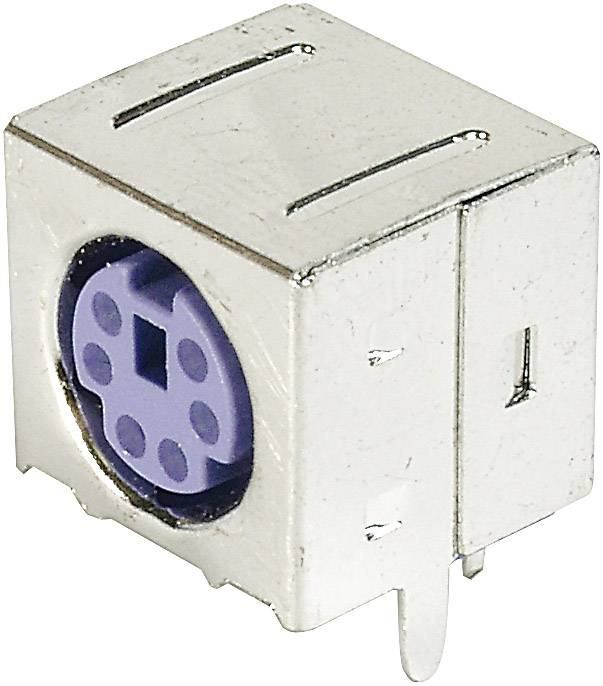 Mini-DIN súprava konektorovej zásuvky TRU COMPONENTS TC-A-DIO-FS06/PURPLE-203 1586425, 1 ks
