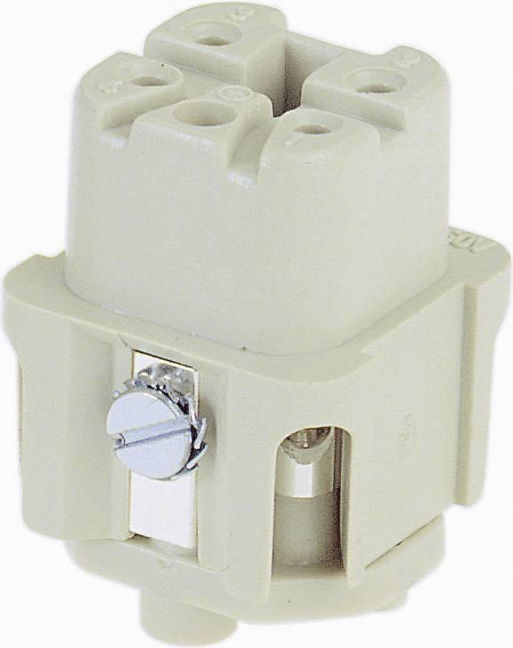 Konektorová vložka, zásuvka Harting Han® A 09 20 003 2711, 3 + PE, šroubovací připojení, 1 ks