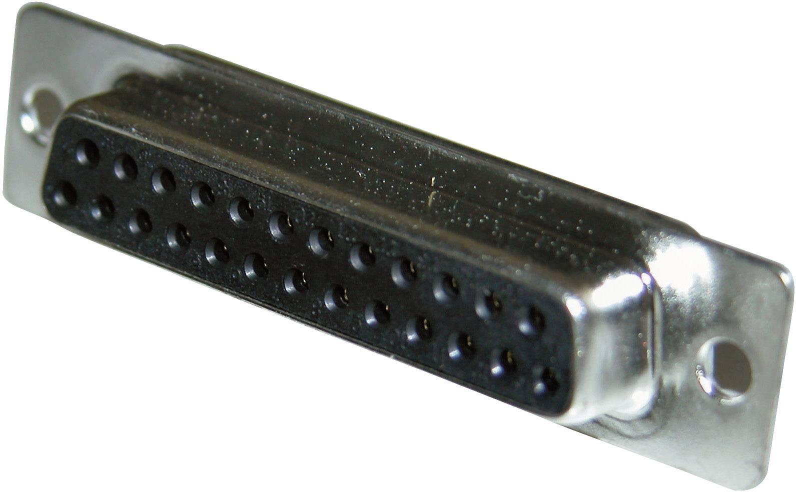 D-SUB zásuvková lišta Amphenol 77SD B25S, 180 °, počet pinov 25, spájkovaný, 1 ks