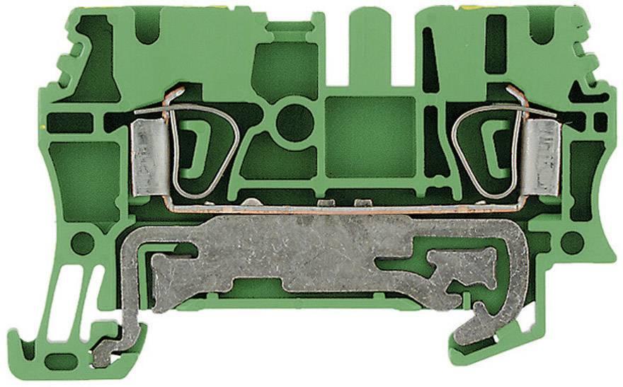 Svorka řadová s ochr. vodičem Weidmüller ZPE 2.5 (1608640000), 5,1 mm, zelenožlutá