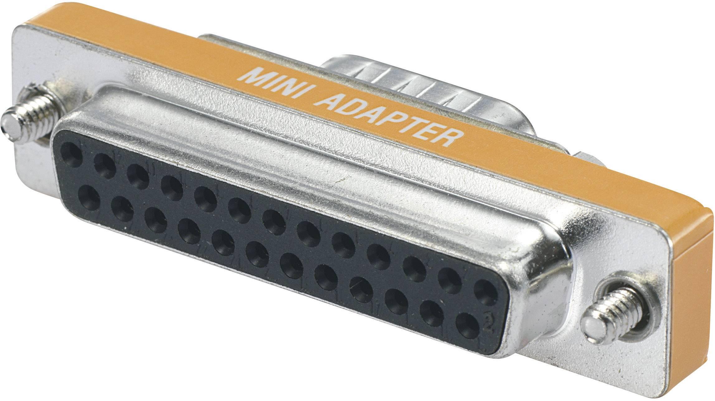 Sériový adaptér BKL Electronic [1x D-SUB zásuvka 25-pólová - 1x D-SUB zástrčka 9-pólová], oranžová