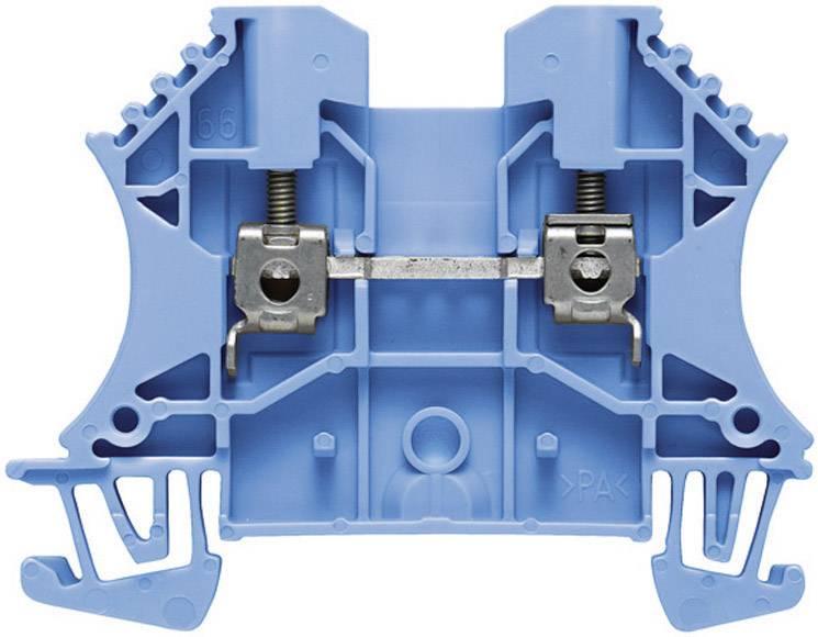 Průchozí svorka řadová Weidmüller WDU 10 BL (1020380000), 9,9 mm, modrá