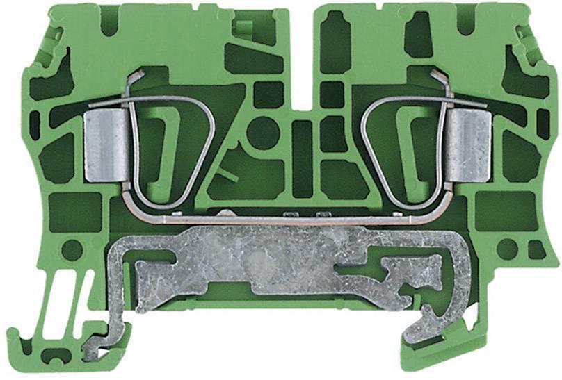 Svorka řadová s ochr. vodičem Weidmüller ZPE 4 (1632080000), 6,1 mm, zelenožlutá