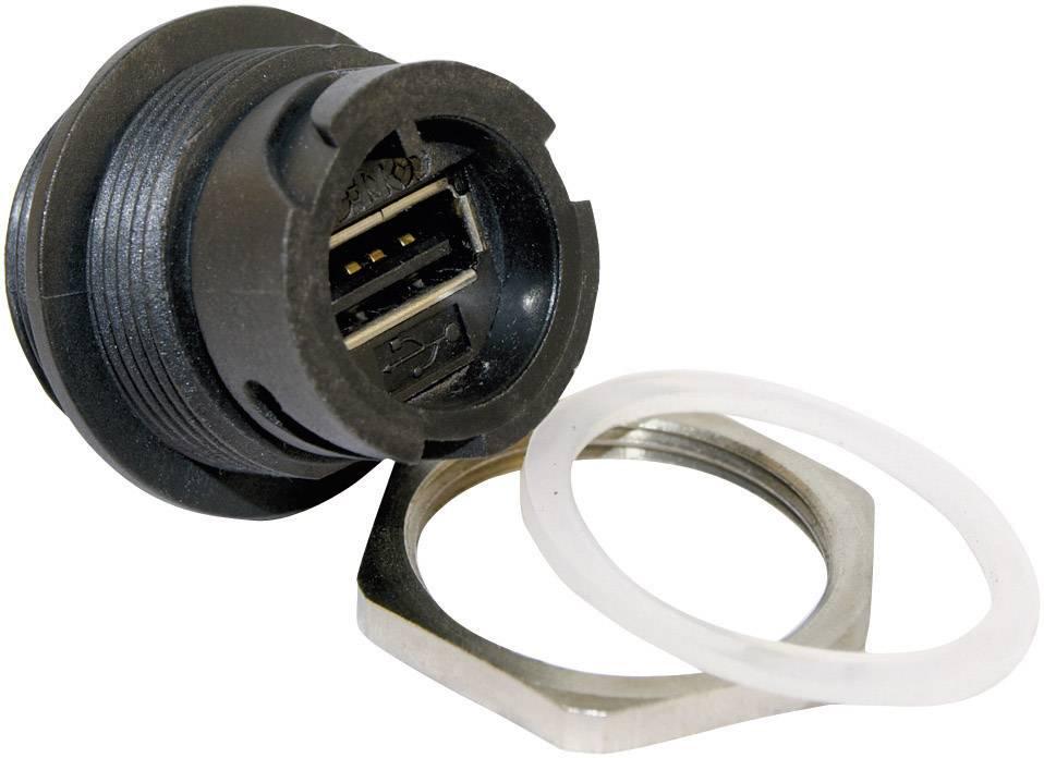 USB 2.0 zásuvka, vstavateľná Conec 17-200001 17-200001, 1 ks