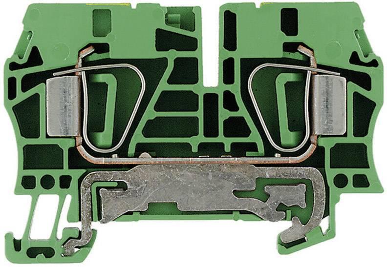 Svorka řadová s ochr. vodičem Weidmüller ZPE 6 (1608670000), 8,1 mm, zelenožlutá