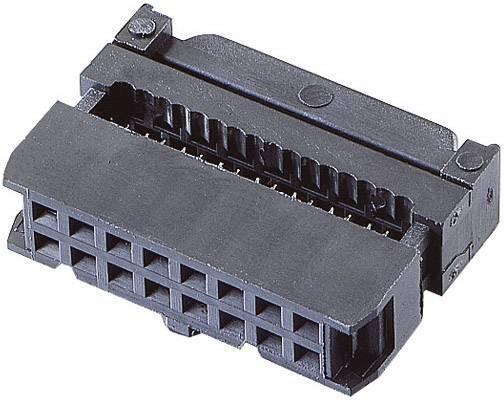 Konektor pre ploché káble BKL Electronic 10120113, raster: 2.54 mm, počet pólov: 16, 1 ks