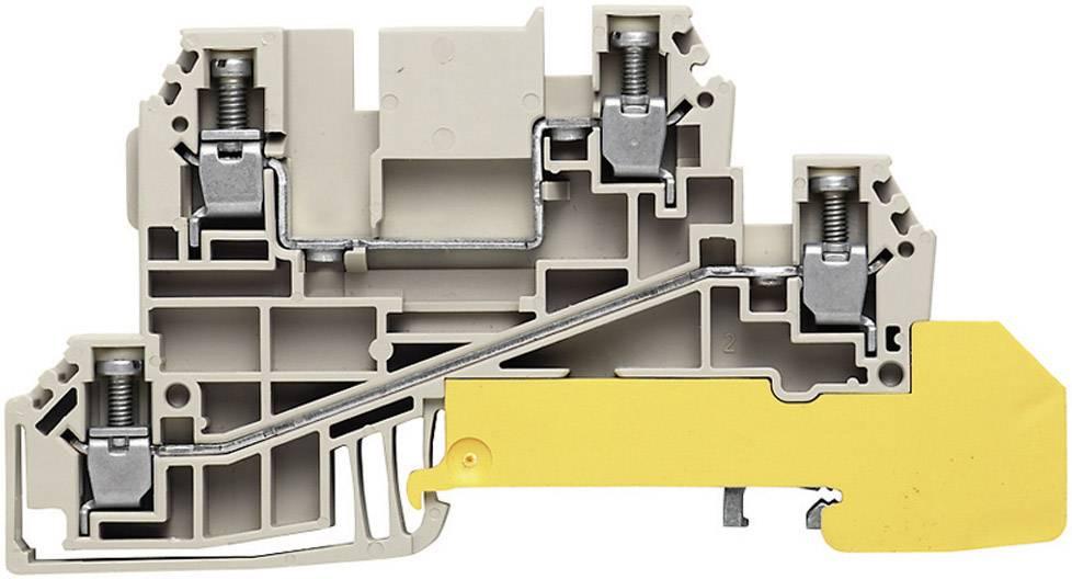 Řad. svorka do rozváděče Weidmüller WDL 2.5/L/L/PE (1030200000), šedá/zel.žlut.