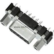 D-SUB zdířková lišta Harting 09 66 151 6513, 9 pin