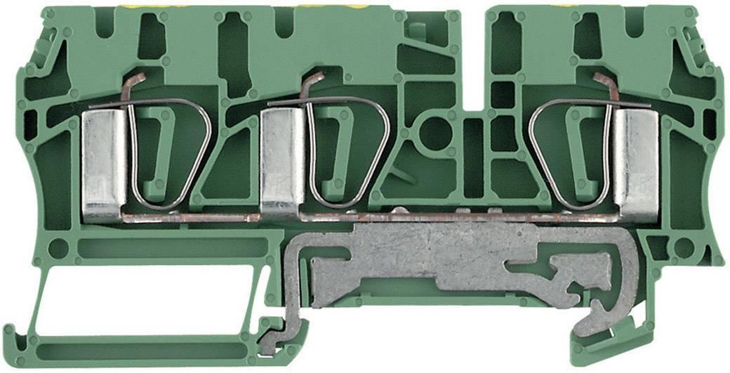 Svorka řadová s ochr. vodičem Weidmüller ZPE 4/3AN (7904170000), 6,1 mm, zelenožlutá
