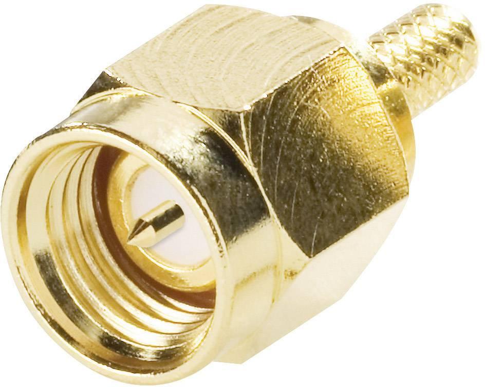 SMA konektor Amphenol SMA1111A2-3GT50G-5-50, 50 Ω, zástrčka, RG 174