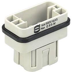 Vložka pinového konektora Harting Han® Q 09 12 008 3001, 8 + PE, krimpované , 1 ks