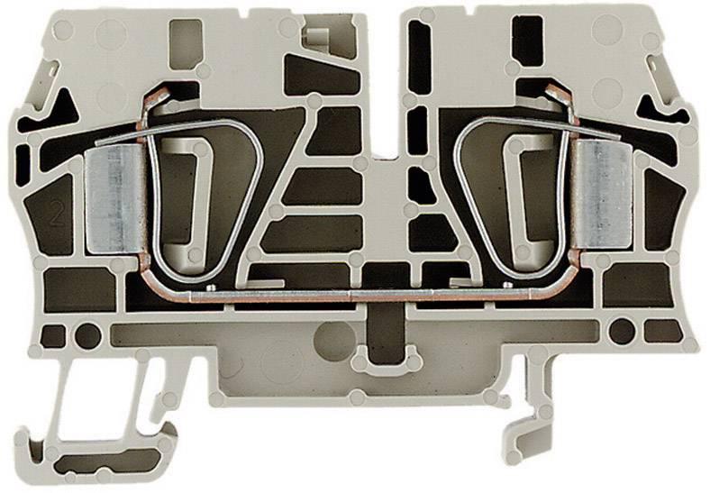 Průchozí svorka řadová Weidmüller ZDU 6 (1608620000), 8,1 mm, béžová