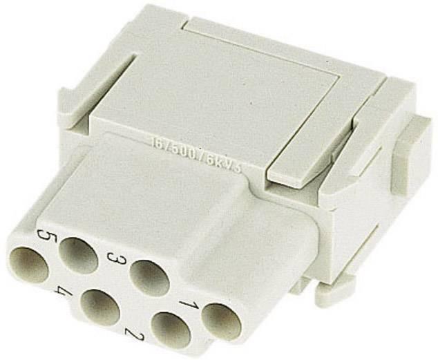Konektorová vložka, zásuvka Harting Han® C-Modul 09 14 006 3101, 6 + PE, krimpované připojení, 1 ks