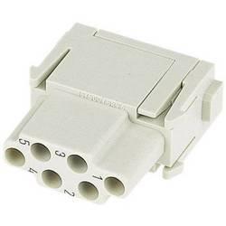 Súprava konektorovej zásuvky Harting Han® C-Modul 09 14 006 3101, 6 + PE, krimpované , 1 ks