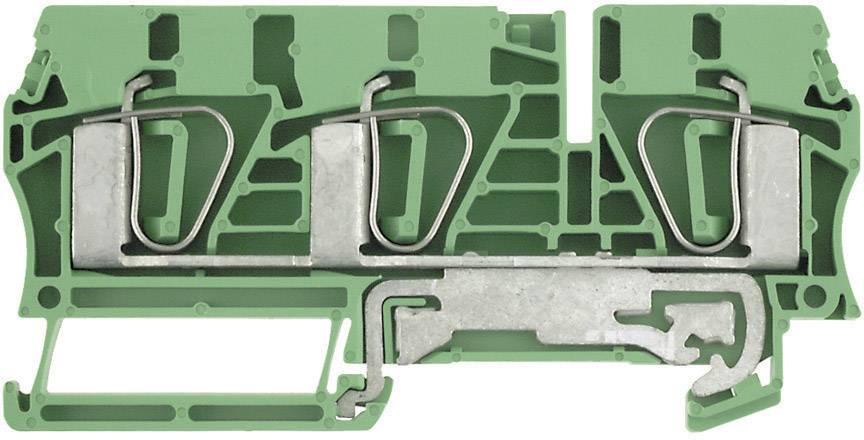 Svorka řadová s ochr. vodičem Weidmüller ZPE 6/3AN (7907400000), 8,1 mm, zelenožlutá