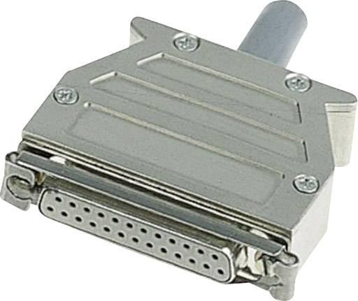 D-SUB púzdro Harting 09 67 015 0453 09 67 015 0453, počet pinov: 15, plast, pokovaný, 180 °, strieborná, 1 ks