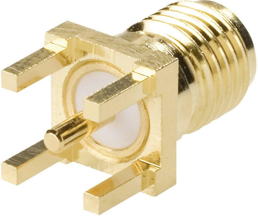 SMA konektor Amphenol SMA6251A1-3GT50G-50, 50 Ω, zásuvka vstavaná