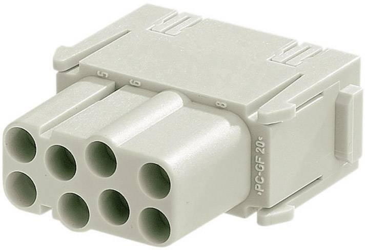 Konektorová vložka, zásuvka Harting Han® C-Modul 09 14 008 3101, 8 + PE, krimpované připojení, 1 ks