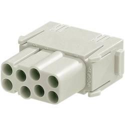 Súprava konektorovej zásuvky Harting Han® C-Modul 09 14 008 3101, 8 + PE, krimpované , 1 ks