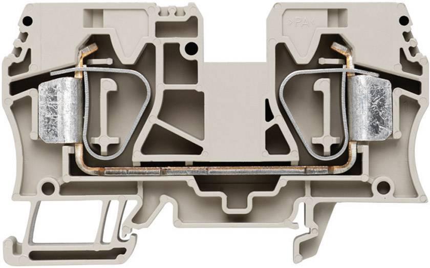Průchozí svorka řadová Weidmüller ZDU 16 (1745230000), 12,1 mm, béžová
