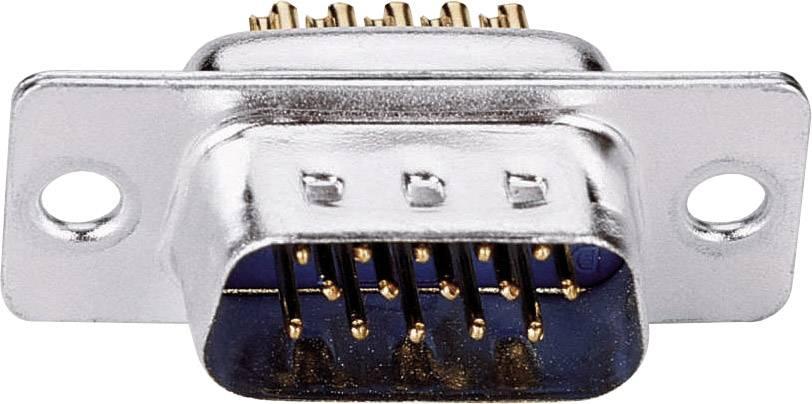 D-SUB kolíková lišta ASSMANN WSW A-HDS 15 LL/Z, 180 °, Počet pinov 15, spájkovaný, 1 ks