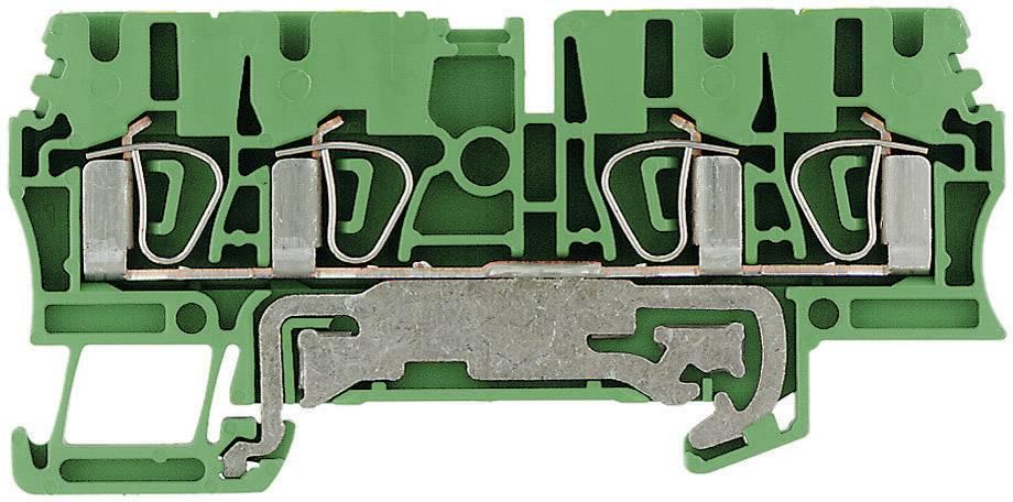 Svorka řadová s ochr. vodičem Weidmüller ZPE 2.5/4AN (1608660000), 5, 1 mm, zelenožlutá