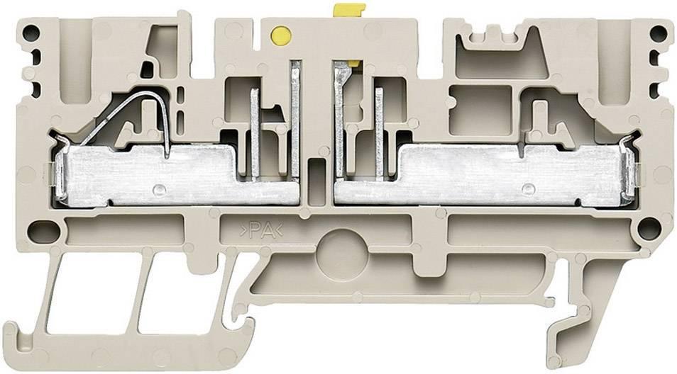 Oddělovací svorka řadová Weidmüller PTR 2.5/4 (1933950000), 5,1 mm, béžová