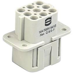 Súprava konektorovej zásuvky Harting Han® Q 09 12 008 3101, 8 + PE, krimpované , 1 ks