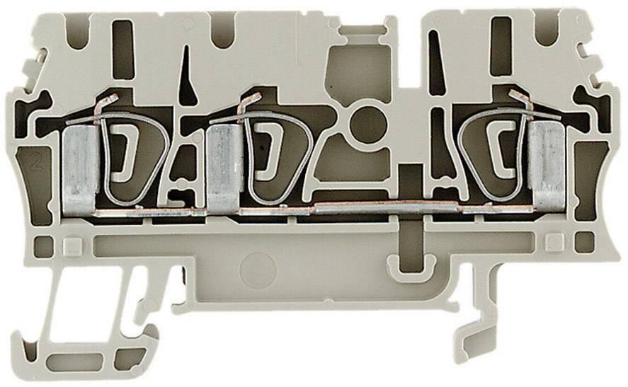 Průchozí svorka řadová Weidmüller ZDU 2.5/3AN (1608540000), 5,1 mm, béžová