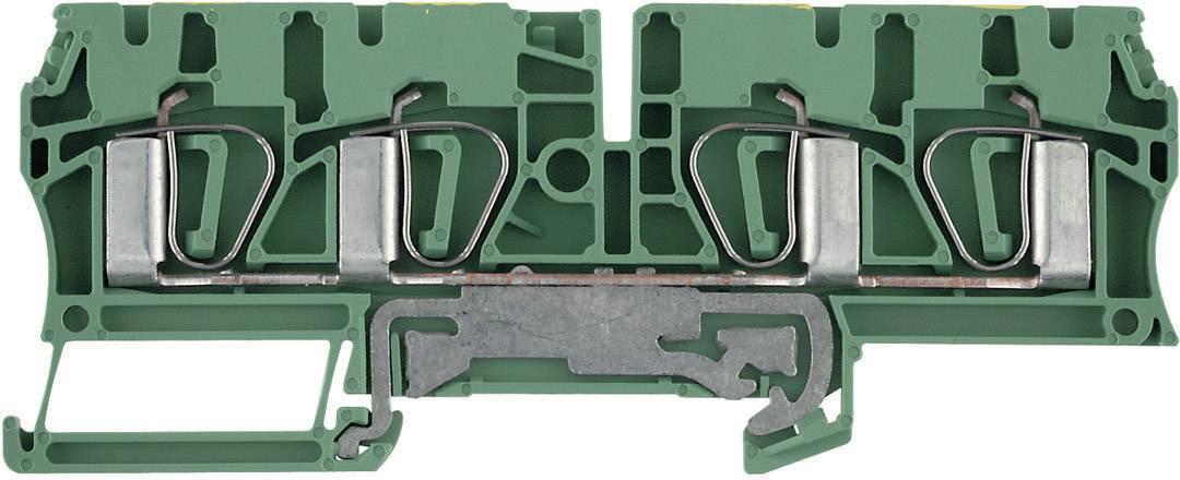 Svorka řadová s ochr. vodičem Weidmüller ZPE 4/4AN (7904280000), 6,1 mm, zelenožlutá