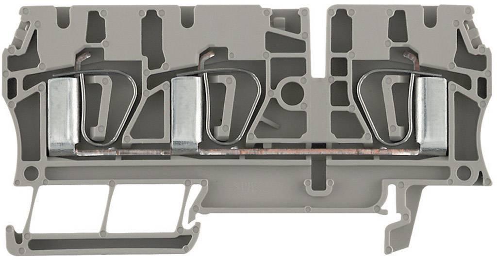 Průchozí svorka řadová Weidmüller ZDU 4/3AN (7904180000), 6,1 mm, béžová