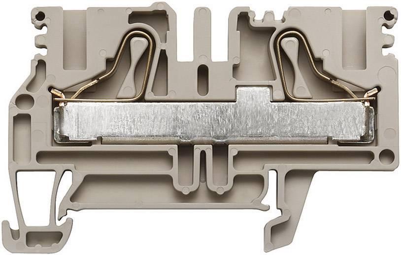 Průchozí svorka řadová Weidmüller PDU 6/10 (1896140000), 8,1 mm, béžová