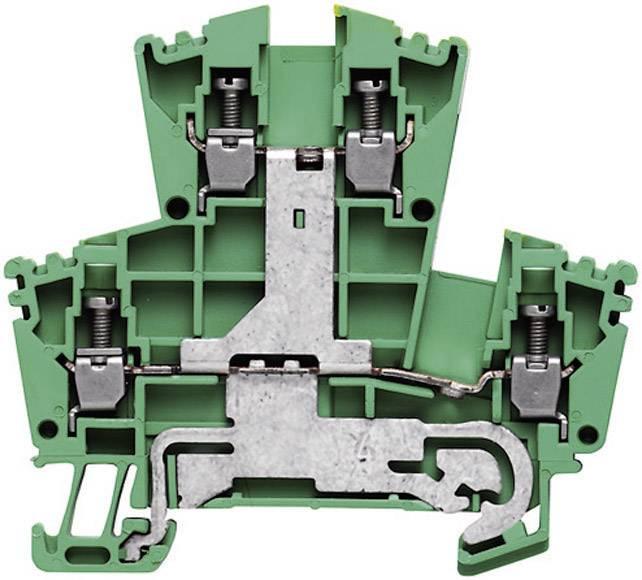 Svorka pro ochranný vodič Weidmüller WDK 2.5PE (1036300000), 5,1 mm, zelenožlutá