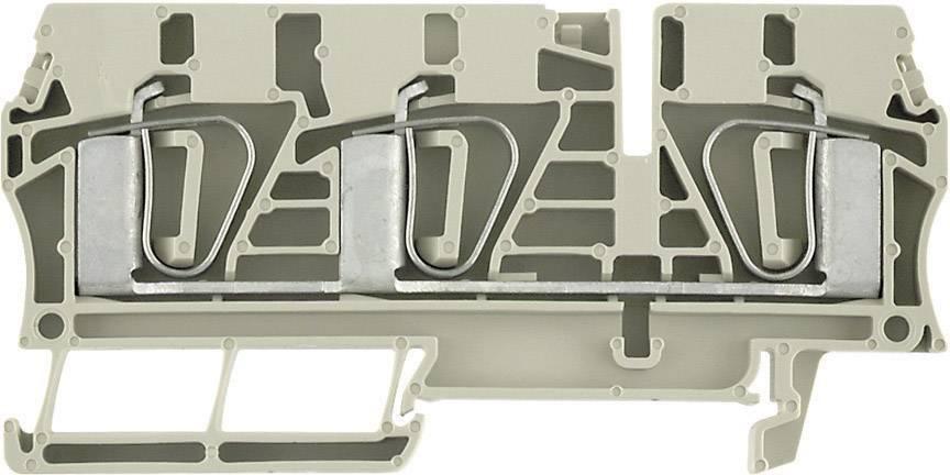 Průchozí svorka řadová Weidmüller ZDU 6/3AN (7907410000), 8,1 mm, béžová