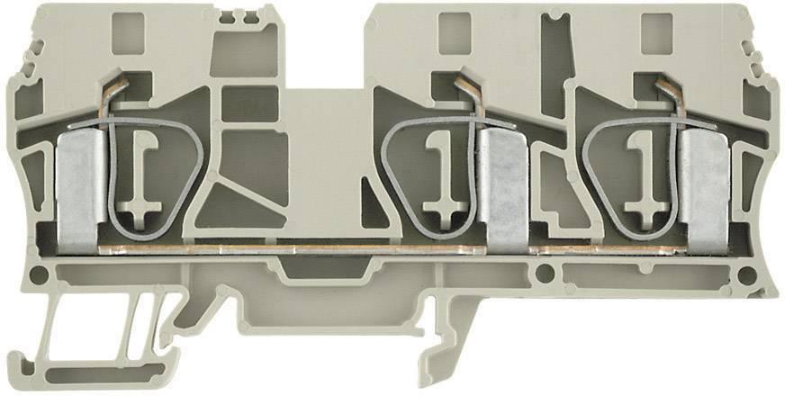 Průchozí svorka řadová Weidmüller ZDU 10/3AN (1767690000), 10,1 mm, béžová