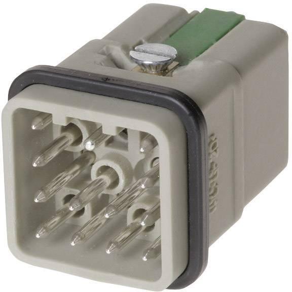 Vložka pinového konektoru Harting Han® Q 09 12 012 3001, 12 + PE, Han-Quick Lock® připojení, 1 ks
