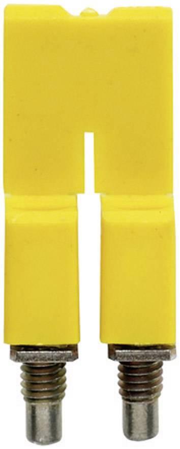 Křížová spojka Weidmüller ZQB 2.5-2 (1677120000), signální žlutá
