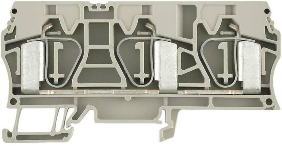 Průchozí svorka řadová Weidmüller ZDU 16/3AN (1768320000), 12,1 mm, béžová