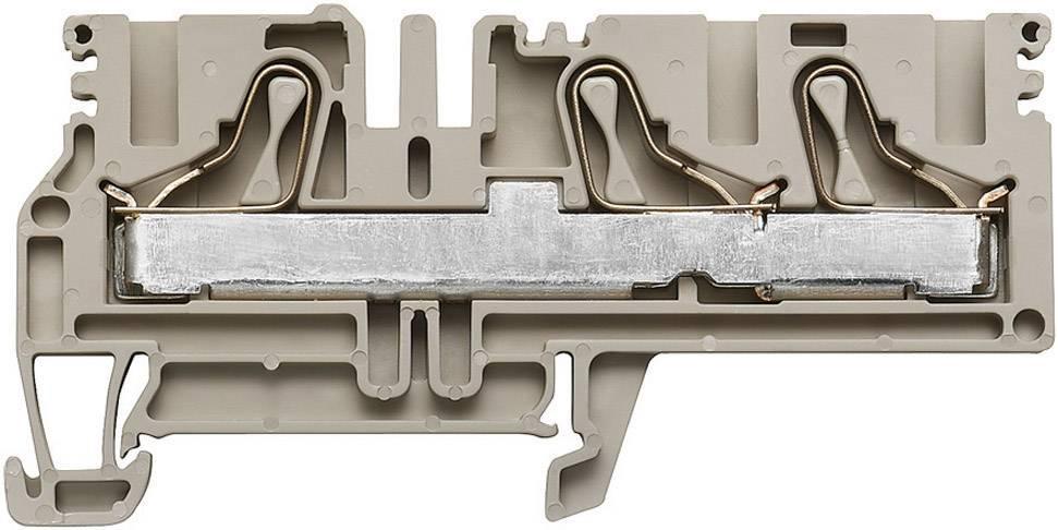 Průchozí svorka řadová Weidmüller PDU 6/10/3AN (1896150000), 8,1 mm, béžová