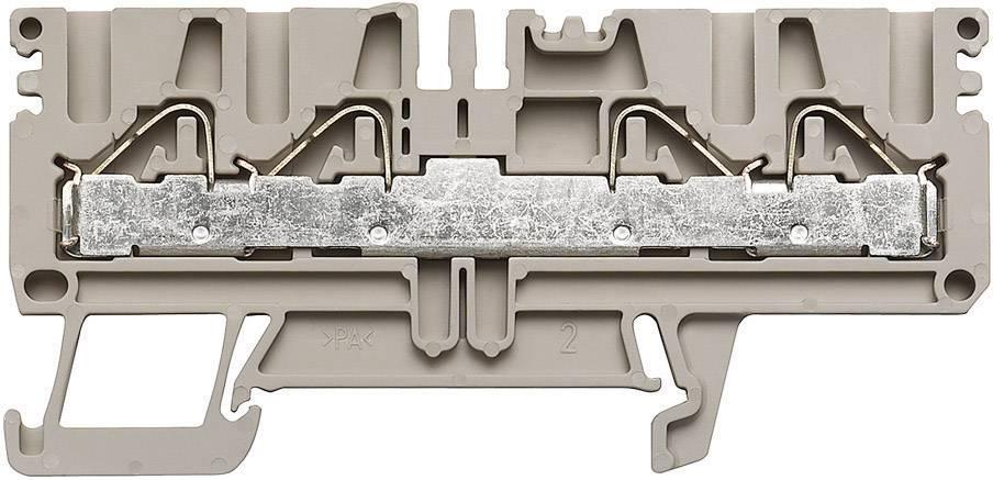 Průchozí svorka řadová Weidmüller PDU 2.5/4/4AN (1896130000), 5,1 mm, béžová