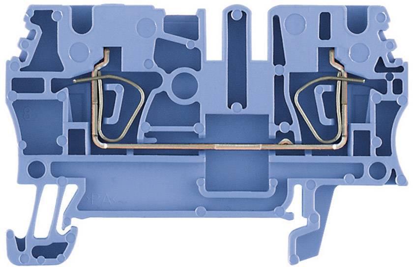 Průchozí svorka řadová Weidmüller ZDU 6 BL (1608630000), 8,1 mm, modrá