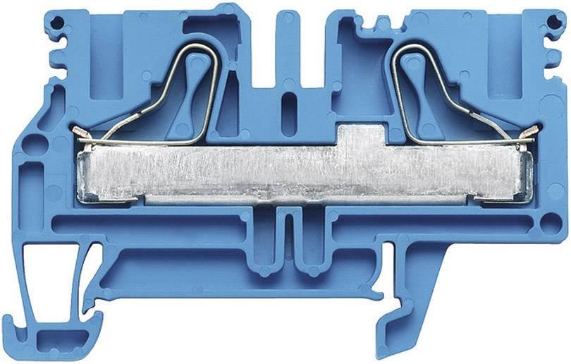 Průchozí svorka řadová Weidmüller PDU 6/10 BL (1896270000), 8,1 mm, modrá